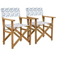 Pair of Folding Garden Chairs Dragonfly Print