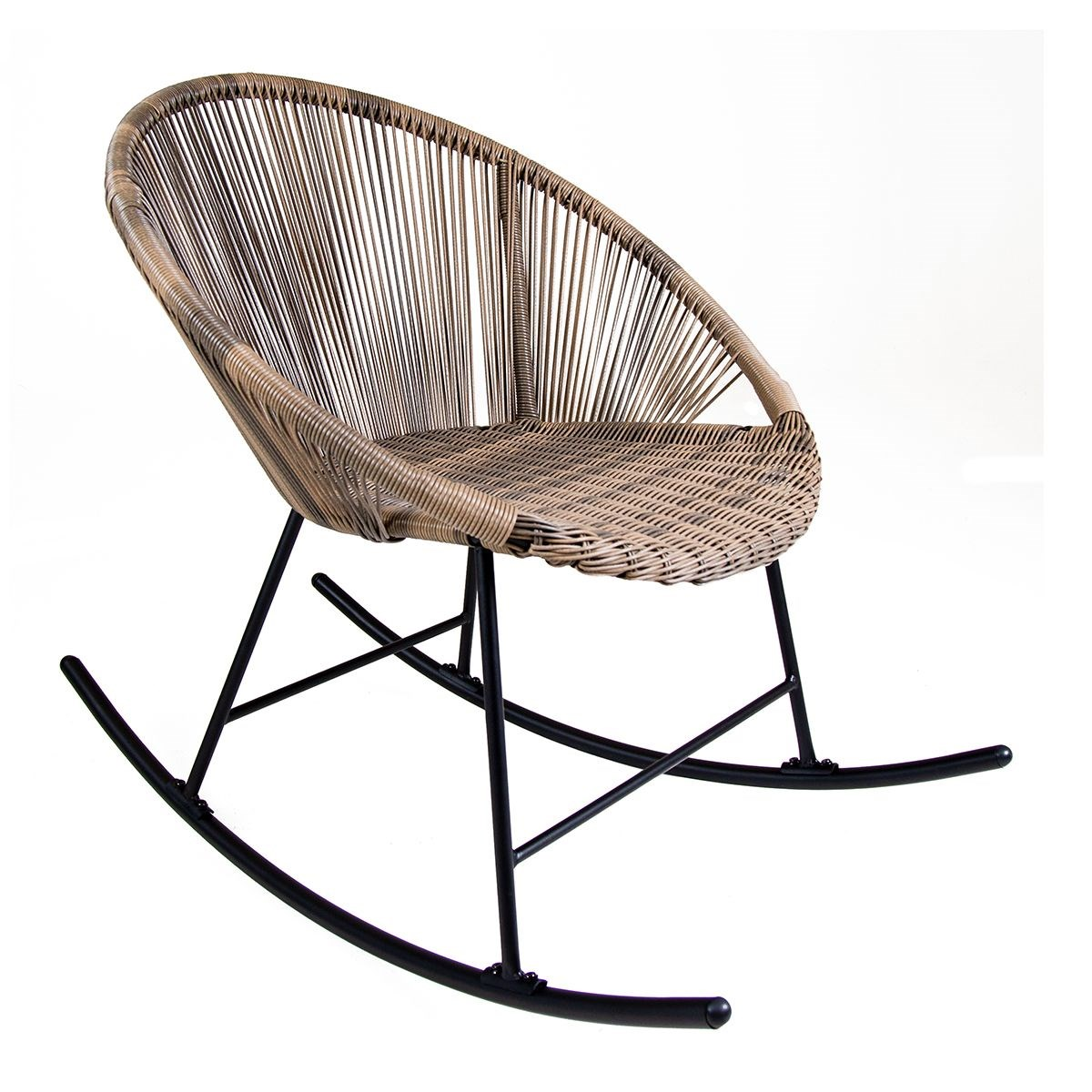 PE Rattan Garden Rocking Chair Two Colours