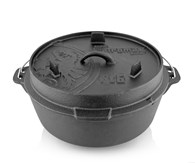 Petromax Dutch Oven Cast Iron Flat Base 6.1 Litre
