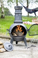 Pewter Effect Steel Chimenea
