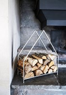 Pewter Kindling or Log Holder