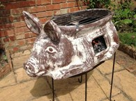 Pig Clay Firepit and BBQ in One!