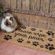 Please Wipe Your Paws Door Mat