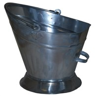 Polished Galvanised Metal Coal Bucket