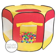 Pop Up Ball Pool Tent with 100 Balls