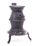 Pot Belly Cast Iron stove Country 8 Woodburning Multi Fuel Patio Heater