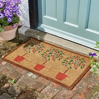 Potted Tree Coir Door Mat