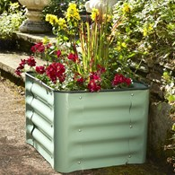 Powder Coated Steel Box Plant Pot in Various Colours