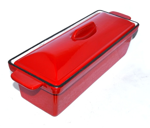 Red Enamel Stock Pot Terrine Dish