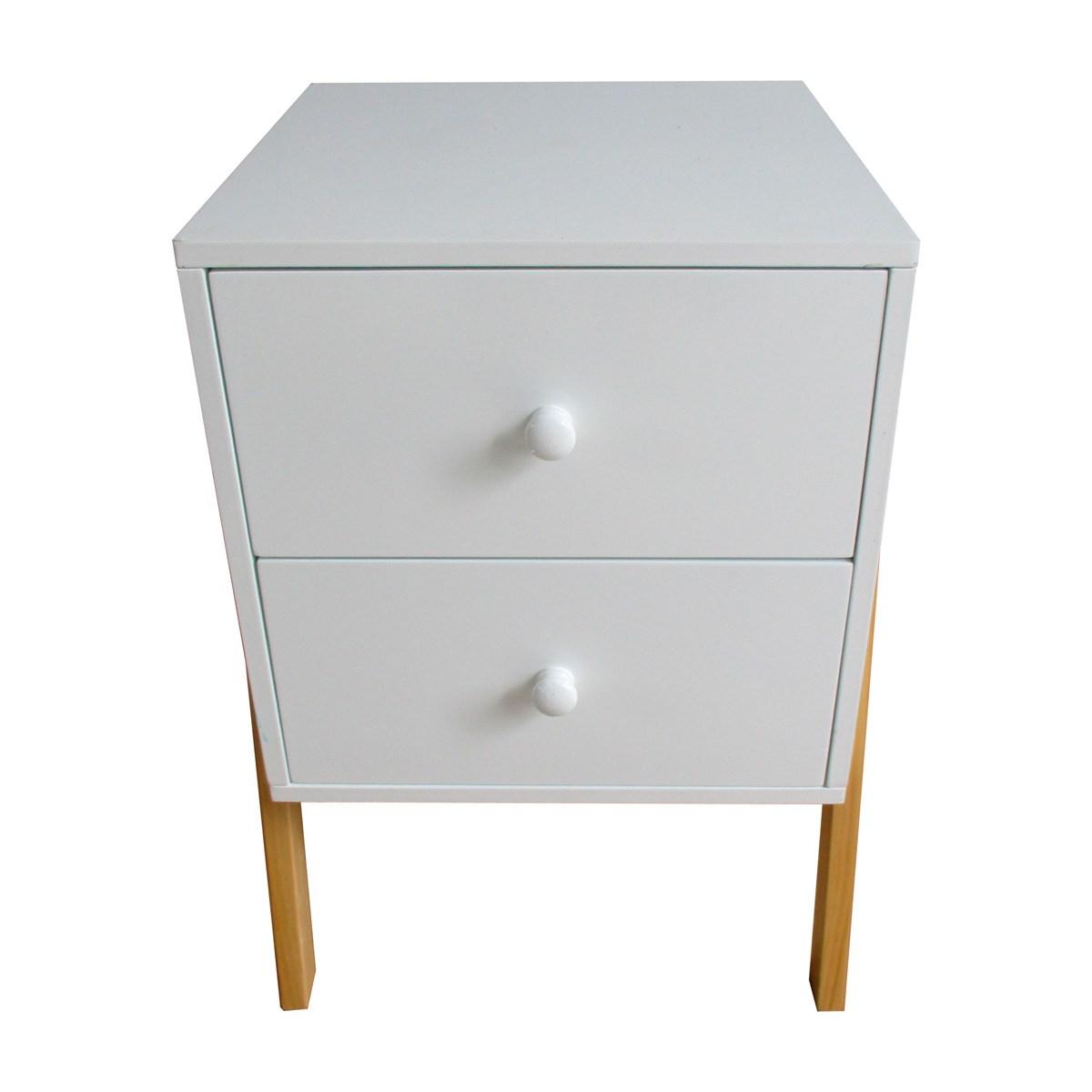 Retro Style Bedside Table Grey Or White Savvysurf Co Uk