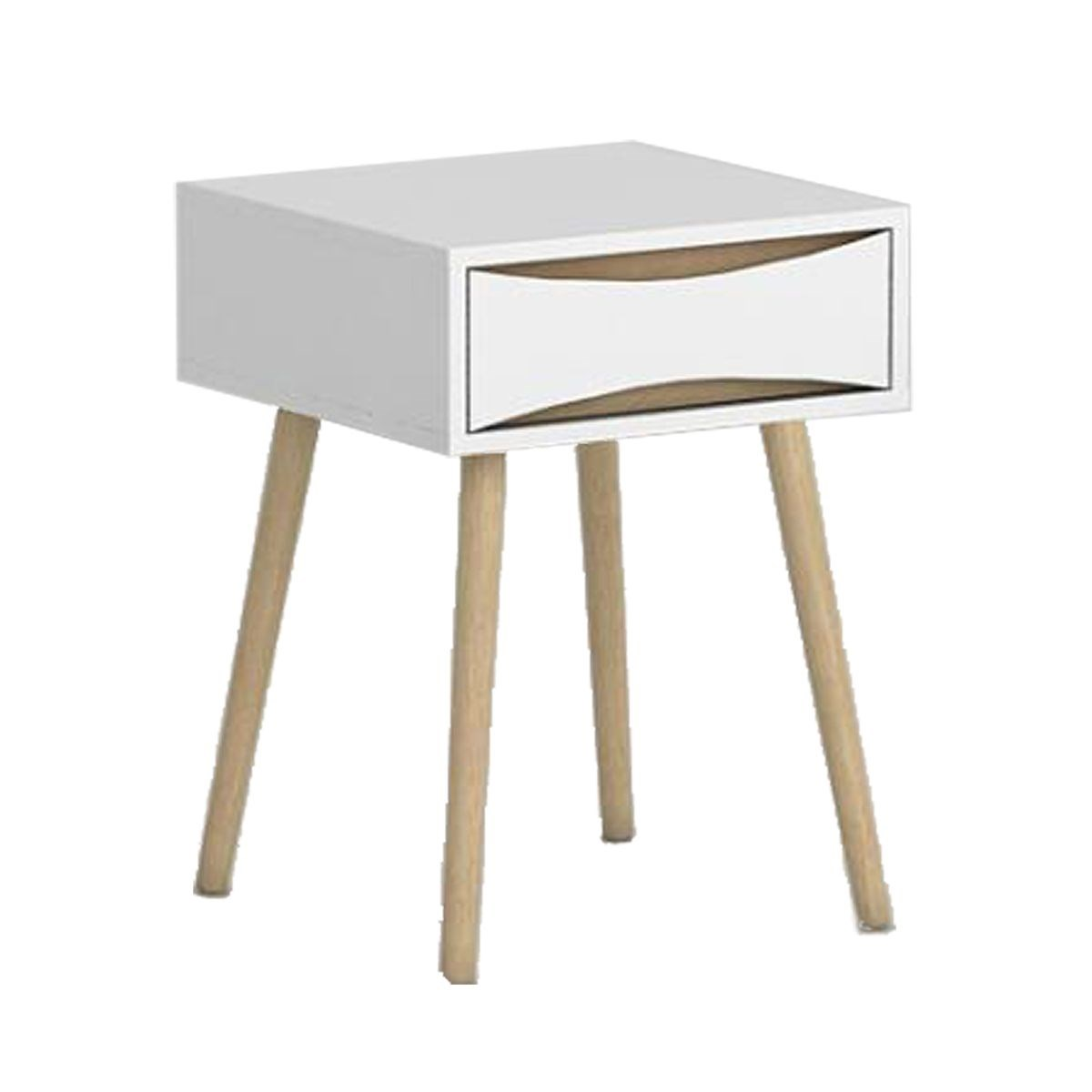 Retro Style Bedside Table with One Drawer