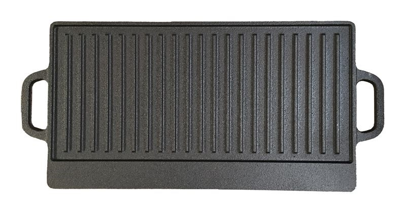 Reversible Cast Iron Griddle Pan Smooth and Ribbed