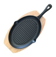Ribbed Cast Iron Sizzler Pan