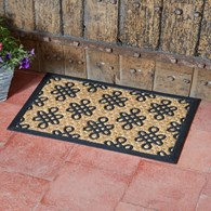 Rubber with Coir Door Mat Various Designs