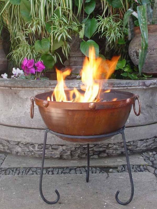 Rustic Steel Fire Pit Fire Bowl Garden Incinerator