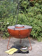 Rustic Steel Firepit BBQ with Accessories 2 Sizes
