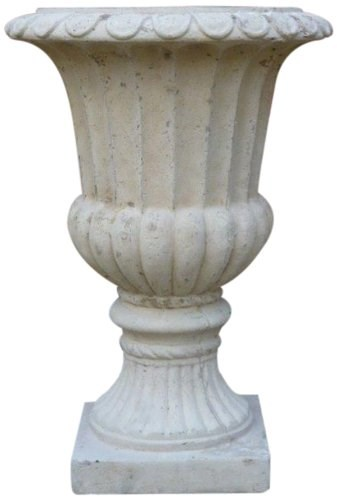 Rustic Stone Garden Urn Plant Pot