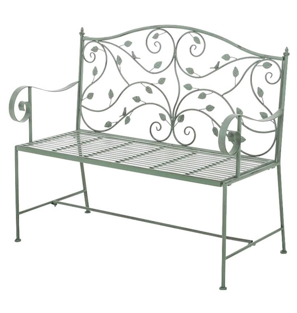 Forest steel garden bench garden furniture steel patio bench shabby chic bench ebay - Garden furniture steel ...
