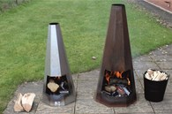 Rusty Look Shabby Chic Chimenea 2 Sizes