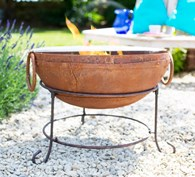 Rusty Shabby Chic Fire Pit with Grill In Various Sizes