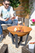 Rusty Shabby Chic Firepit 2 Sizes