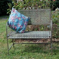 Rusty Shabby Chic Metal Garden Bench