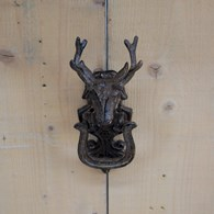 Rusty Shabby Chic Stag Door Knocker