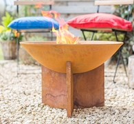 Rusty Shabby Chic Cast Iron Fire Pit