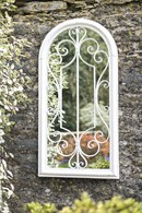 Shabby Chic Arched Garden Mirror