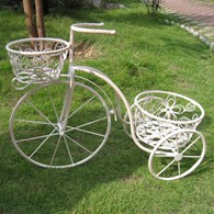 Shabby Chic Bicycle Planter in White or Black