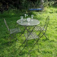 Shabby Chic Bistro Dining Set for Four
