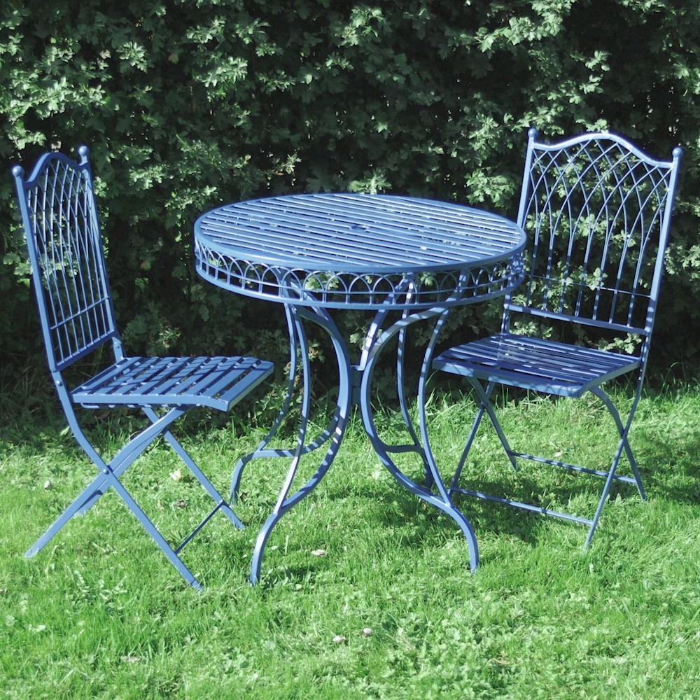 Shabby Chic Bistro Set Garden Furniture Set Metal Patio Garden Table