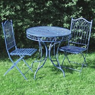 Shabby Chic Bistro Set in Blue Cream or Green