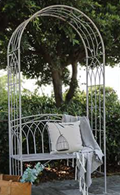 Shabby Chic Garden Arch with Bench