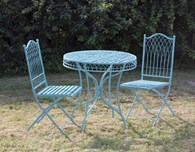 Shabby Chic Metal Bisto Set in Blue