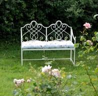 Shabby Chic Metal Garden Bench
