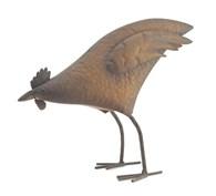 Shabby Chic Ornamental Rusty Chicken Pecking