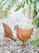 Shabby Chic Ornamental Rusty Chicken Pecking