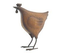 Shabby Chic Ornamental Rusty Chicken Standing