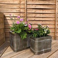 Shabby Chic Planters Set of Three