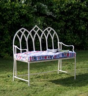 Shabby Chic Rustic Garden Bench Gothic Blue or Cream