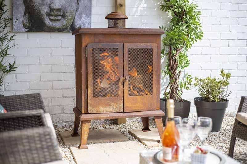 Shabby Chic Rusty Garden Fireplace Fire Pit
