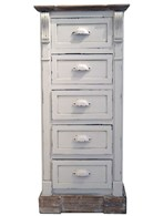 Shabby Chic Tall 5 Drawer Chest of Drawers