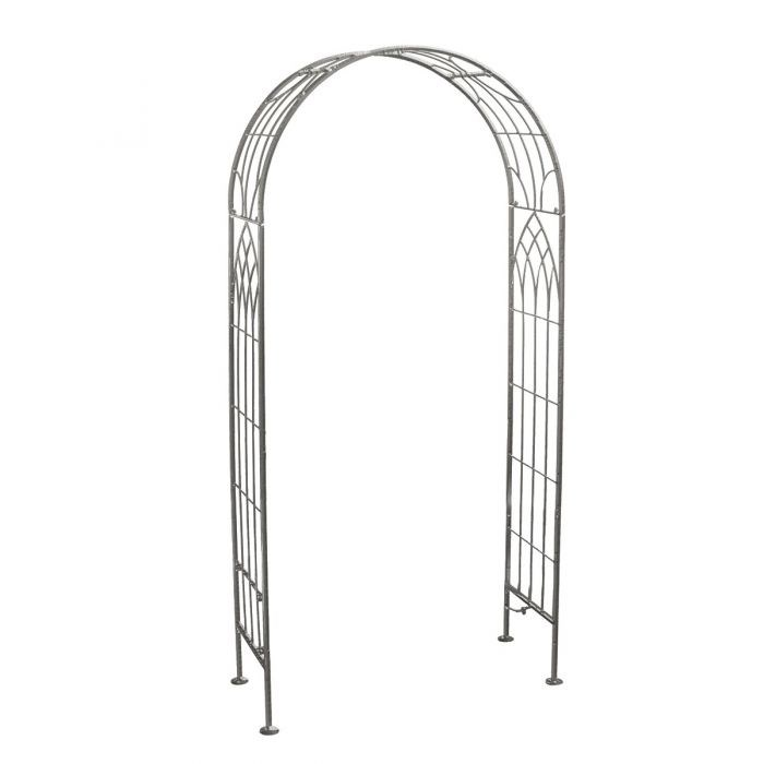 Shabby Chic Wrought Iron Garden Arch Pergolas in White or Grey