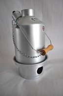 Silver Anodised Ghillie Kettle Wood Burning Stove All Sizes