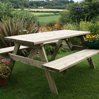 Six Seater Wooden Picnic Table