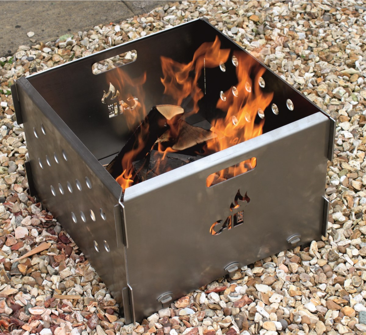 Slot Together Steel Firepit no Bolts Two Sizes