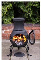 Small Cast Iron Chimenea Black or Bronze