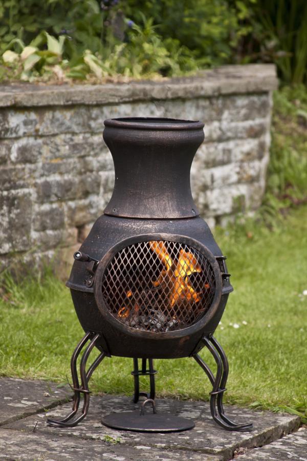 cast iron chimenea chiminea garden heater wood burning