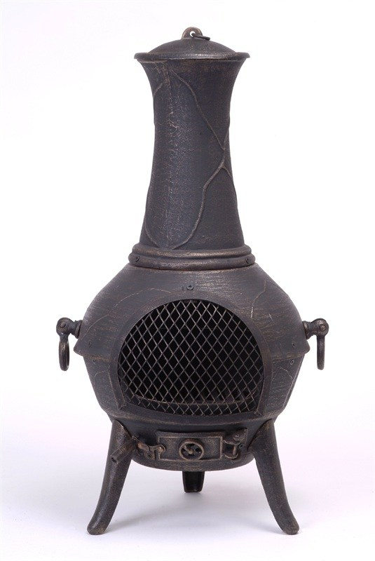 Small Cast Iron Chimenea Multi Fuel Indoor or Outdoor Wood Burning Stove